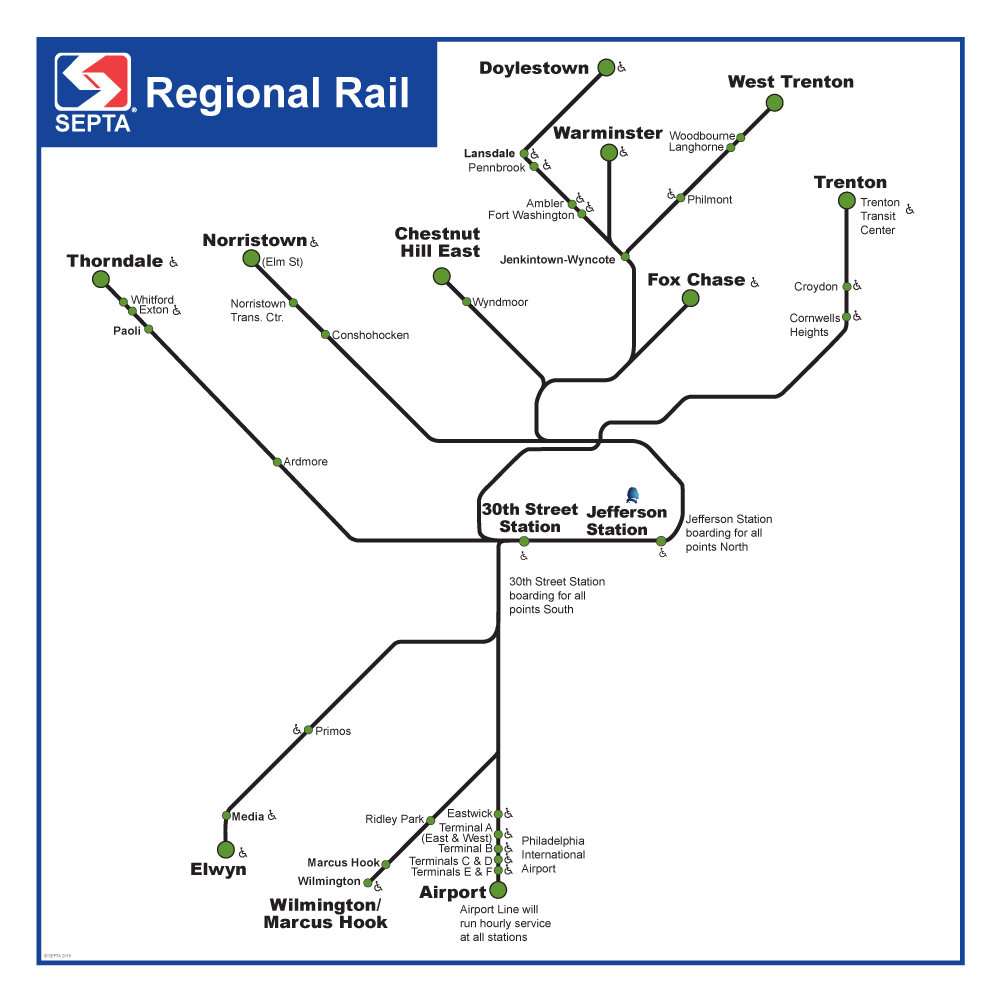 Regional Rail Eagles Parade Service Map