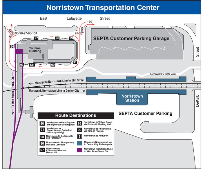 Norristown Pa Zip Code Map.Septa Norristown Transportation Center