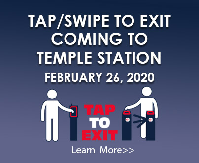 February 19, 2020 | Penn Medicine Station | TAP/SWIPE TO EXIT AT THE TURNSTILES